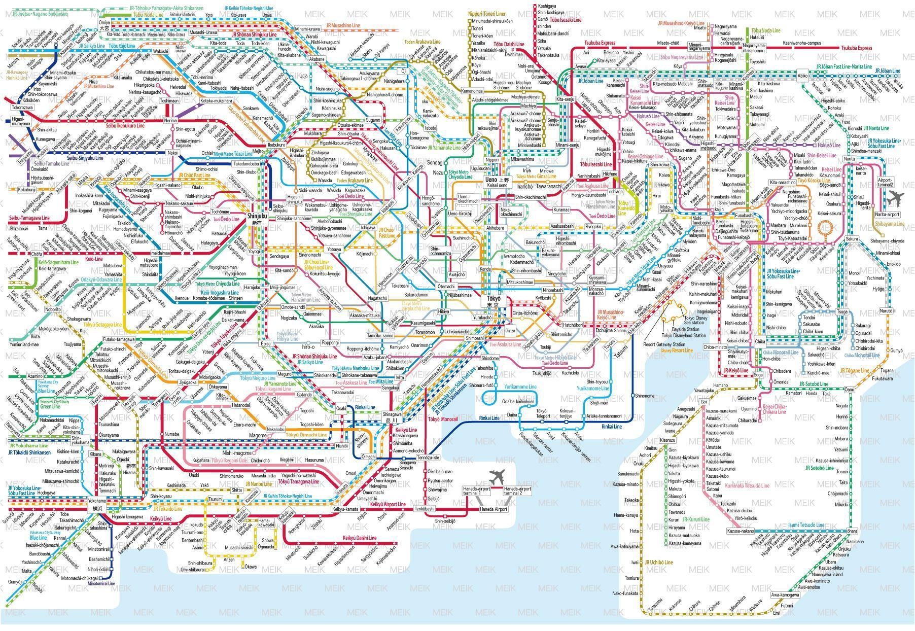 Subway Map Tokyo English.East And West Jimcofer Com