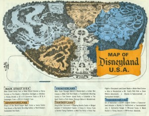 Disneyland 1965 map
