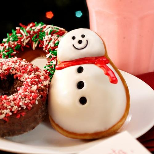 Krispy Kreme Snowman