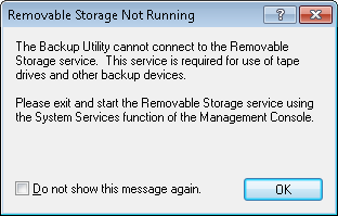 ntbackup error