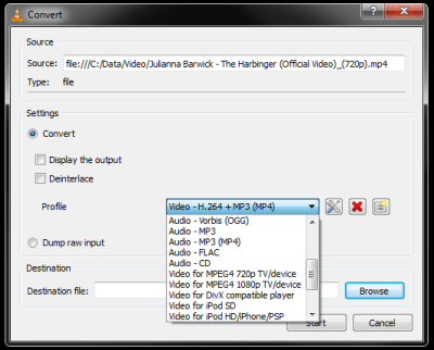 Converting MP4 to MP3 with VLC – jimcofer.com