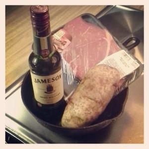 """Steak, potatoes and Irish whiskey... yep, it's """"Mad Men"""" premiere night!"""