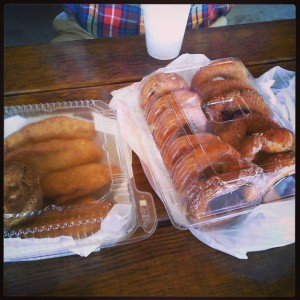 Fried apple pies and apple cider donuts!
