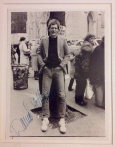 Letterman Autographed Photo
